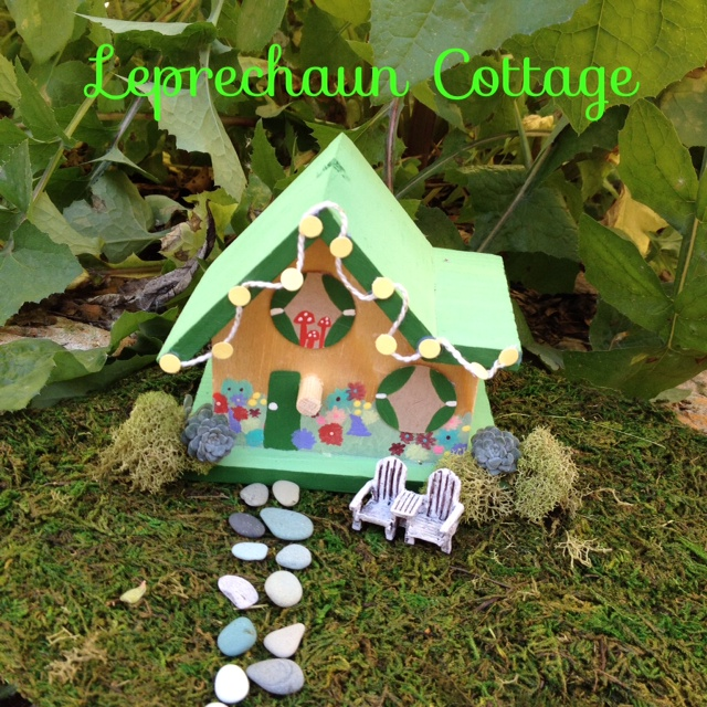 DIY Leprechaun Cottage, great craft for kids of St Patricks Day!