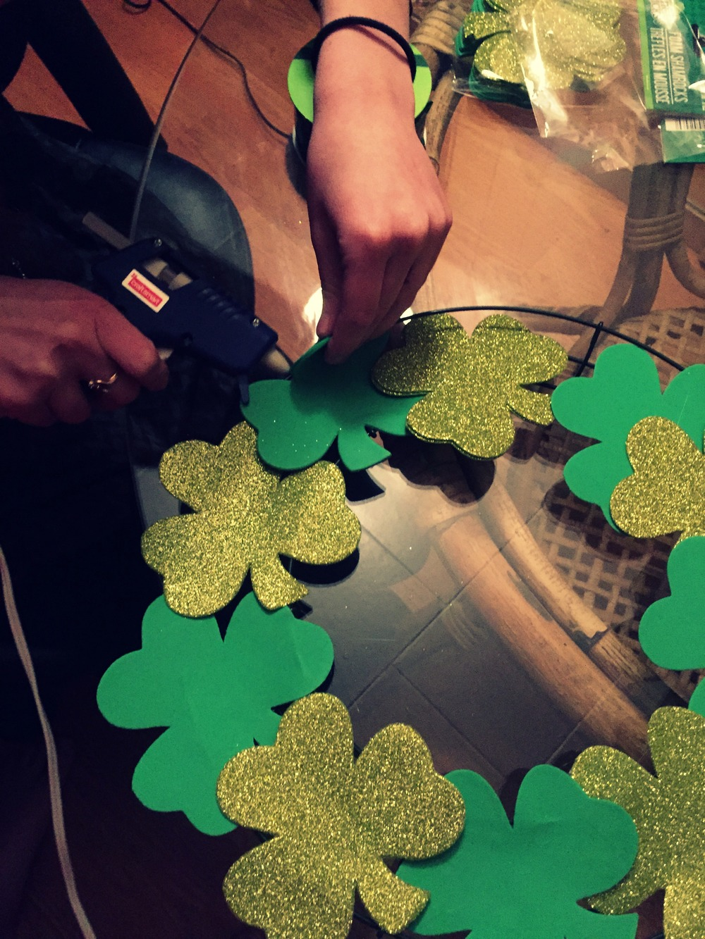 DIY St. Paddy's Day Wreath - Dollar Store Craft