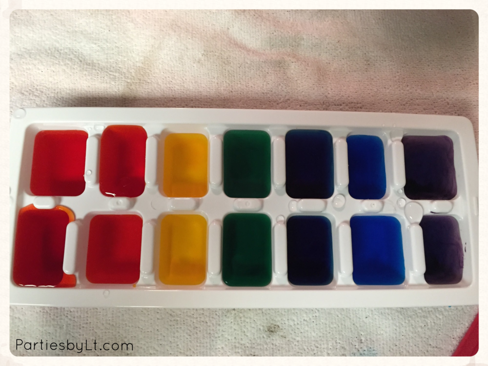Rainbow Ice Cubes for St. Paddy's Day Party