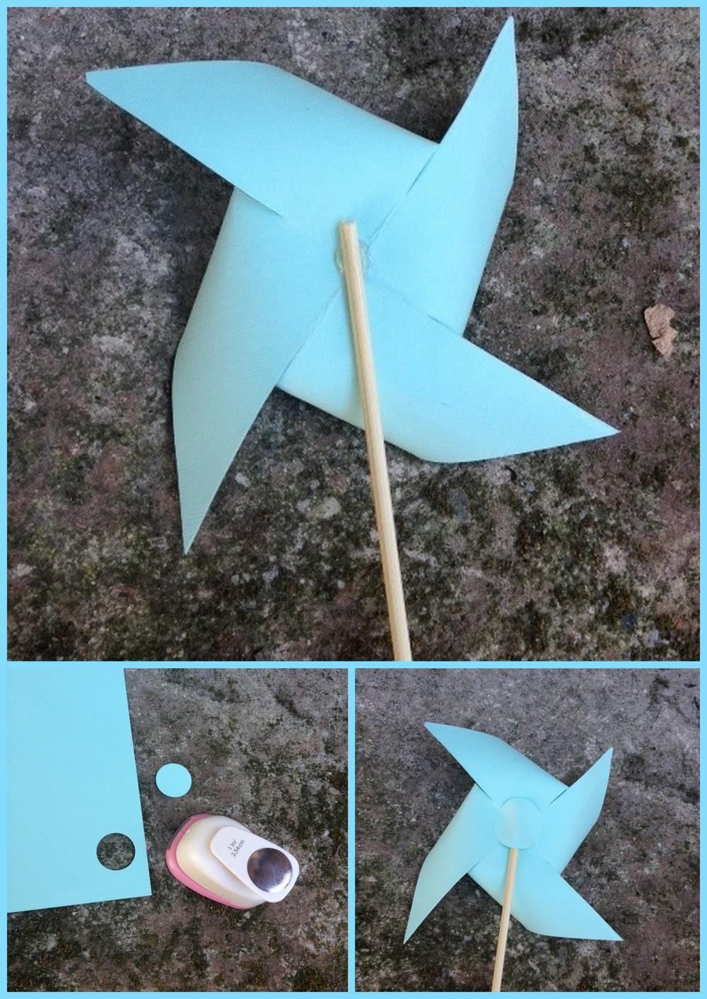 DIY Flower PInwheels - Great for an Easter Centerpiece! #CreationsbyLt