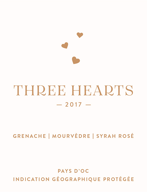 Three Hearts Dry French Rosé - Fresh, lively structural acidity, good weight, rich-for-the-category mouthfeel. Complex-for-the-category fruit extraction - white flowers, plum/strawberry/watermelon rind, with vinous tobacco, smoke, black pepper and graphite hints over wet stone minerality.
