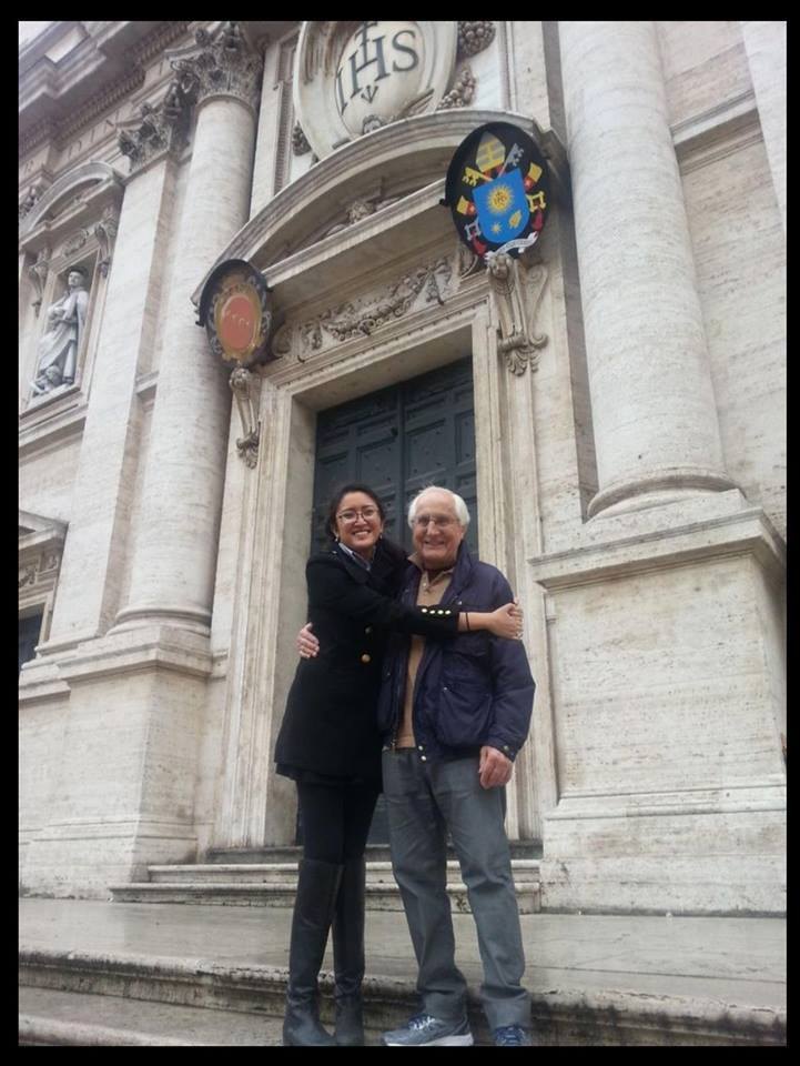 The bishop and the director in Rome.
