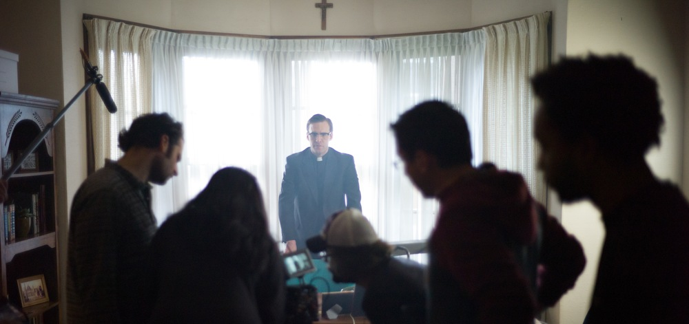 Jonathan C. Stewart as Bishop Thomas Gumbleton and the  American Prophet  crew