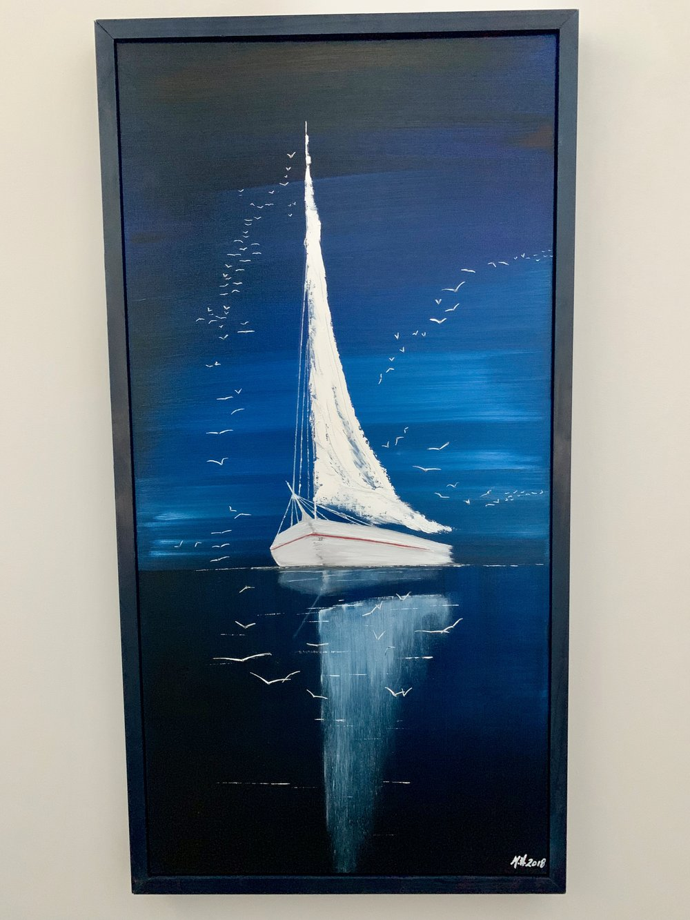 Night Sailing (custom frame)