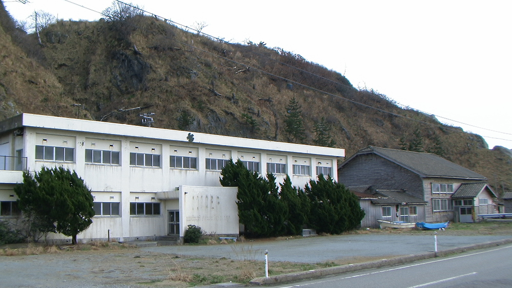 A disused elementary school in Sado Island, Niigata Prefecture, Japan. One of many schools closed due to reduced numbers of children.