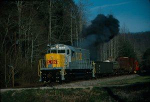 Here is 1315 doing what she was built to do - haul freight.