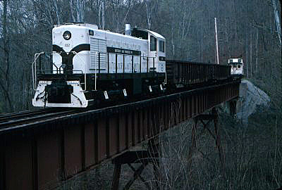 The train headed on to Blue Heron with a stop for the train to pose on the bridge near Camargo.