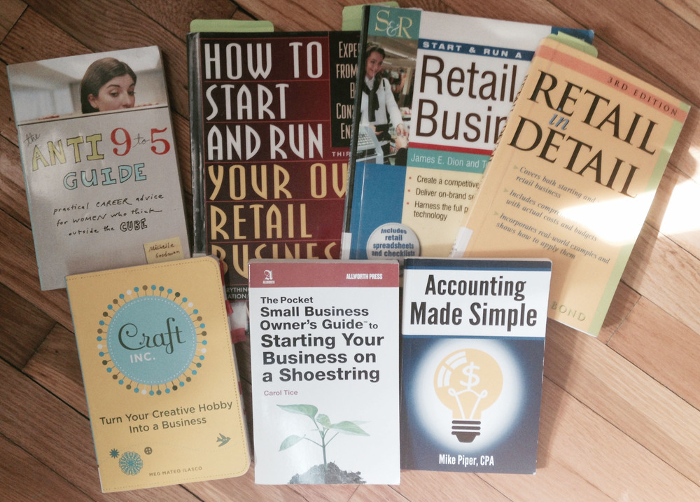 Just a few of the business books I've read (not counting the numerous online resources I've also read).