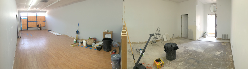 Panoramic view of shop.
