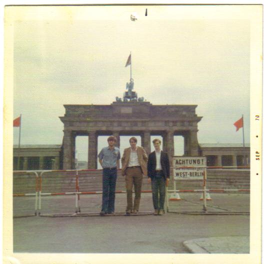 Brandenburg Gate, Berlin Wall, 1970