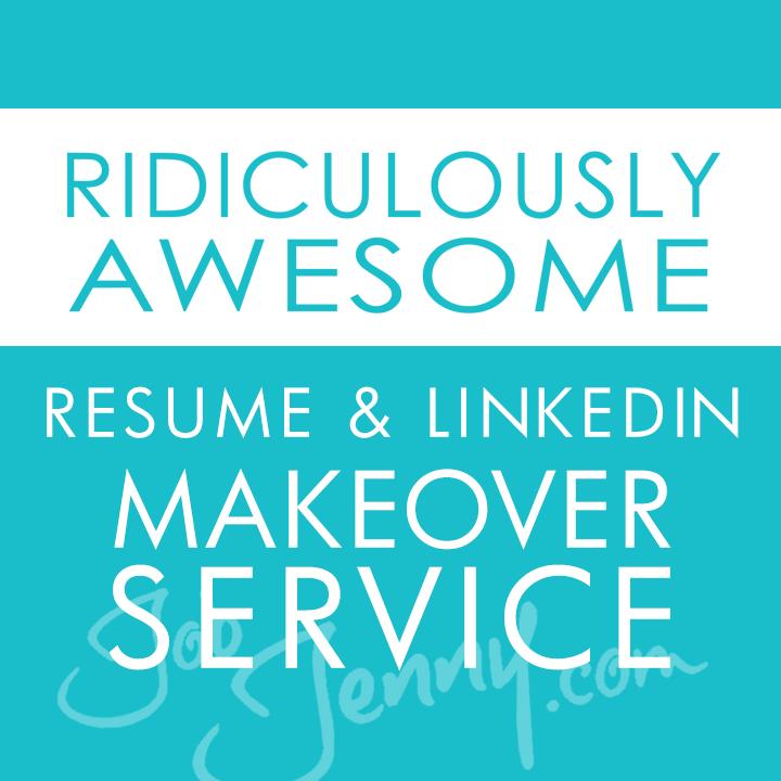 Resume LinkedIn Makeover Service JobJennycom