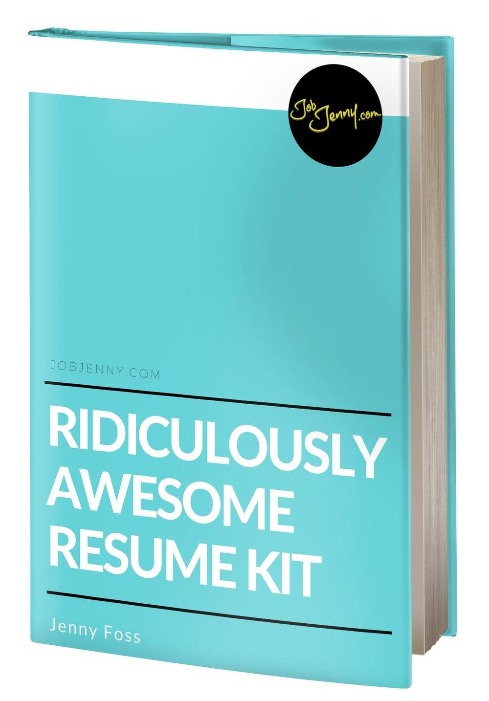ridiculously awesome resume kit  u2014 jobjenny com