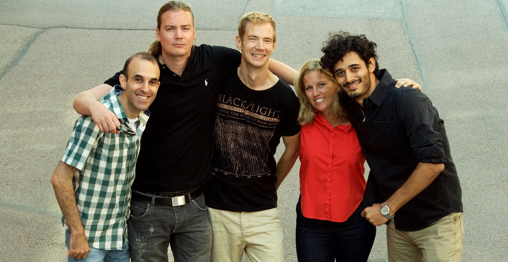 The founding team from left to right: Amir Sabbagh Pour, Simon Ulfsbäcker, Rasmus Johansson, Johanna Reimers and Farshid Jafari Harandi.