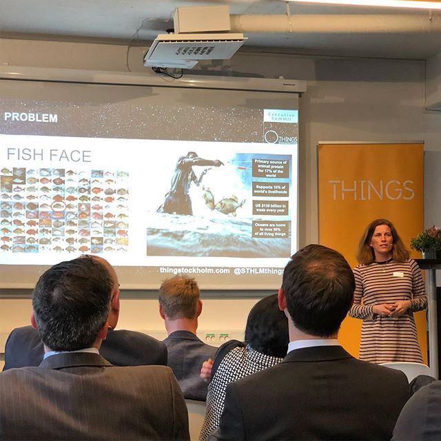 Johanna from Refind is presenting FishFace as one of the 10 companies in THINGS