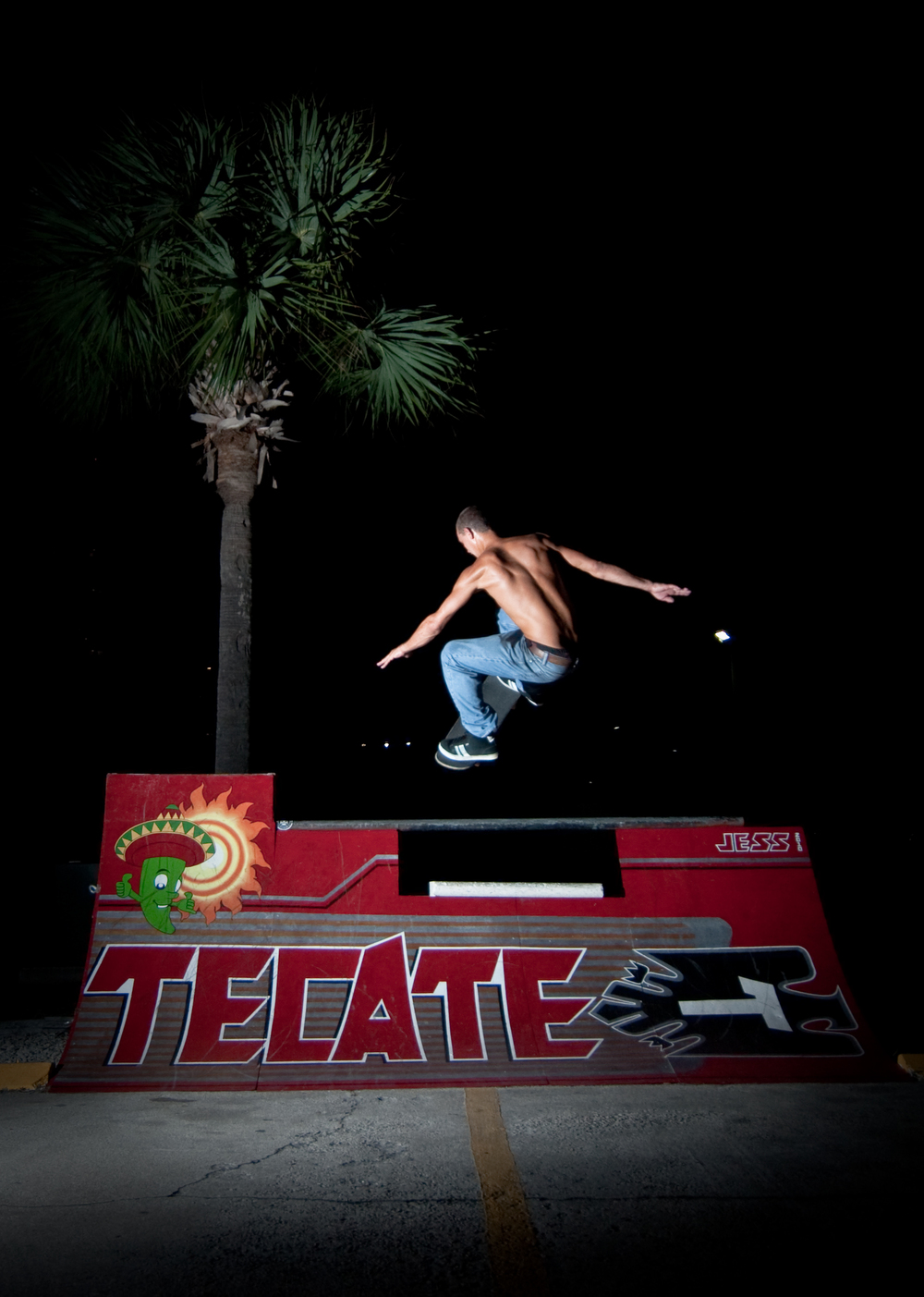 My first mural...Tecate skate ramp