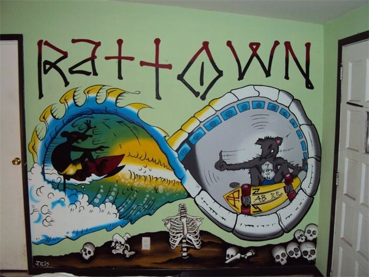 RatTown mural in Atlantic Beach, FL