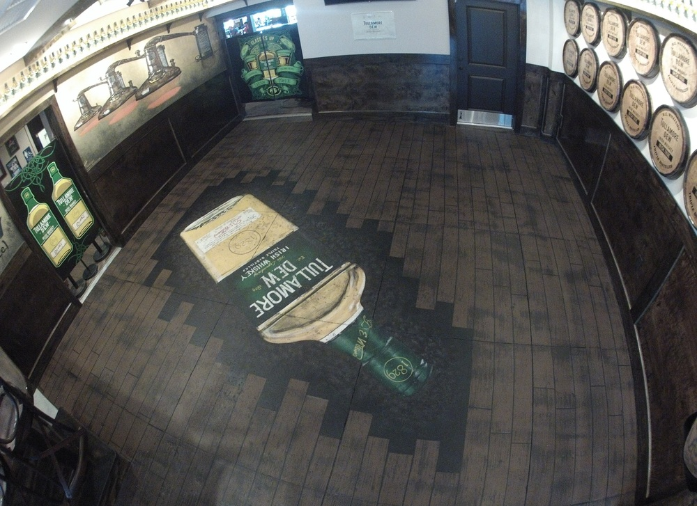 (3 of 3) Floor Mural at popular Restaurant/Bar  Lynch's Irish Pub , 514 1st St N., Jacksonville Beach, FL in their newly renovated Tullamore Dew Room  Measuring 509 sq. ft