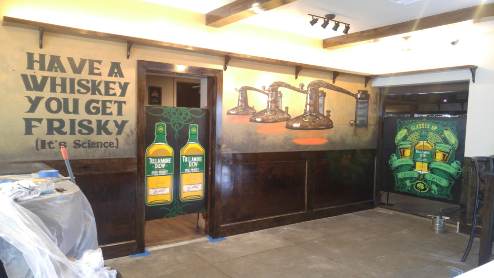 Finished mural measuring 20' x 3.58 at  Lynch's Irish Pub  located at 514 1st St. N. in Jacksonville Beach.