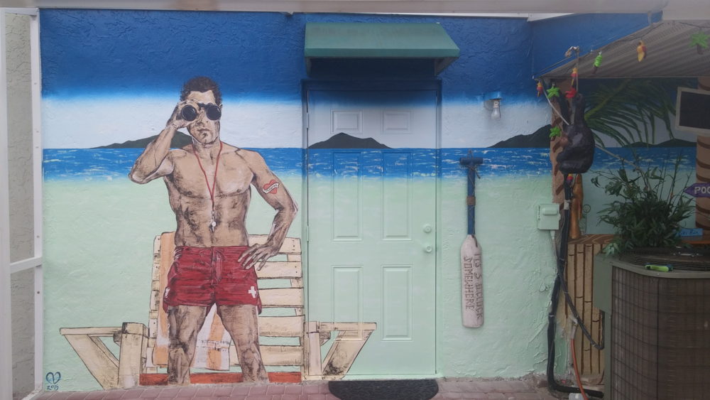 """BECKER TIKI BAR"" RESIDENTIAL MURAL"