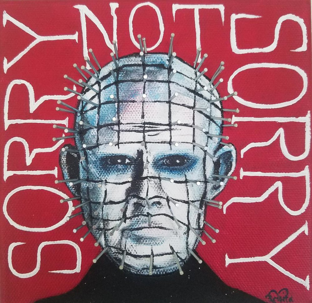 """SORRY NOT SORRY"" ORIGINAL PAINTING"
