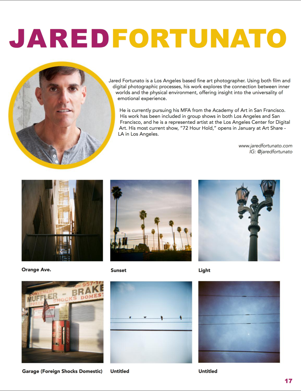 """Portrait of Hollywood"" featured in the latest edition of Art Muzeo Magazine, available for download or purchase. Join me and the other fantastic artists at Art Muzeo's launch party, February 4th. Click here for ticket and event information. Hope to see you there."