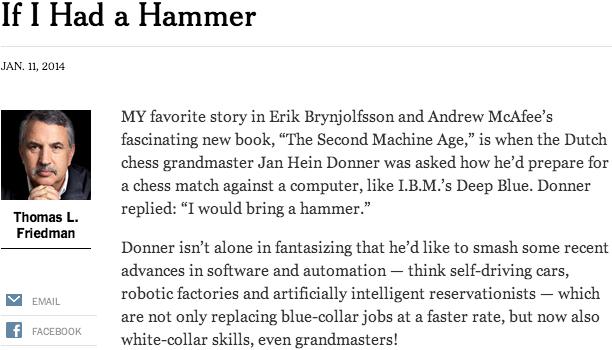 Thomas Friedman, If I Had a Hammer