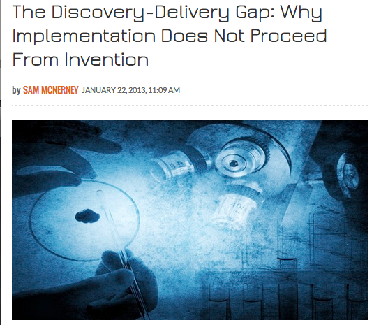 The Discovery, Implementation Gap