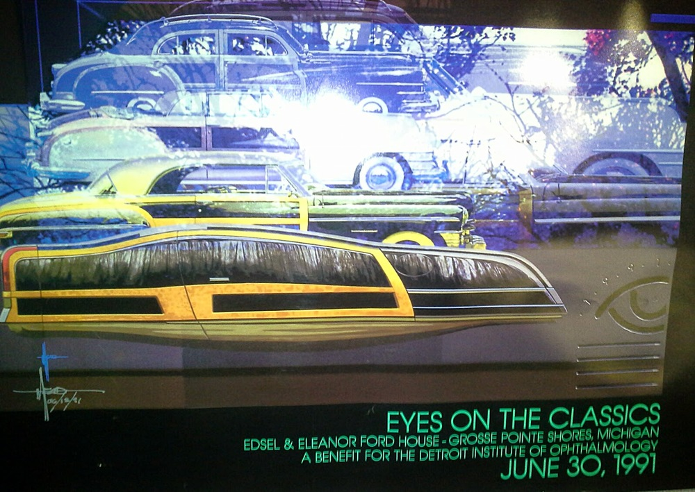 First major work  Syd Mead  produced using computer graphics software working with Detroit Digital Studios and the Industrial Design Society of America. Mead left Ford when design lost ground and went to Hollywood to envision sets such as for Blade Runner and Tron. He returned to Detroit to collaborate with Detroit Digital Studios for this show that highlighted design and the new capacities technology made available to creative talent.