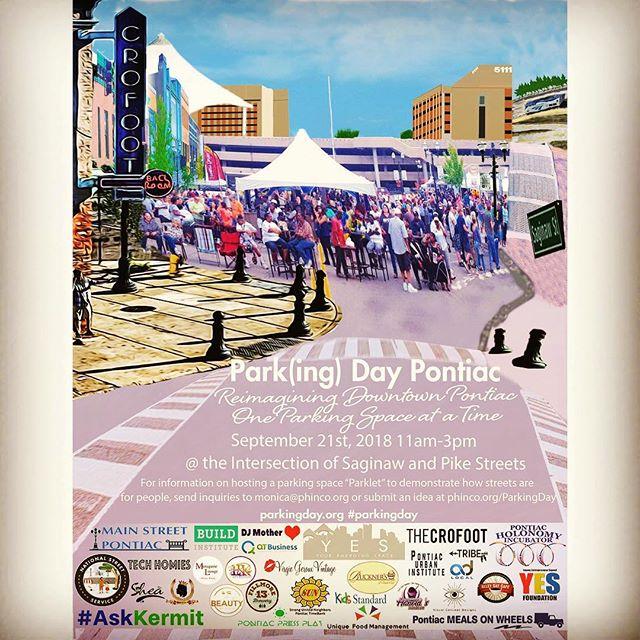Pontiac Park(ing) Day 2018! #parkingday #cities #carfree #carfreeday #parkingday2018