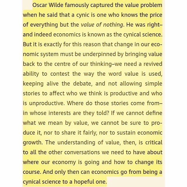 Extracting vs. Creating VALUE - From The Value of Everything: Making and Taking in the Global Economy by Mariana Mazzucato #economy #value #values #holonomyresearch #designresearch #generative #problemsolving #generativedesign