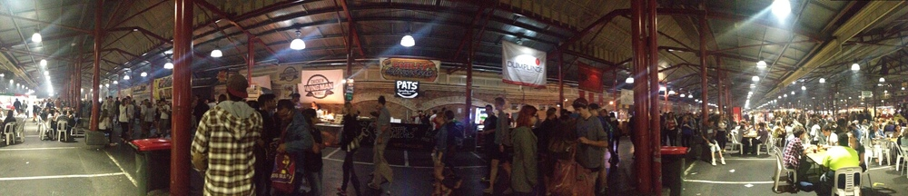 This is standing in front of the Philly Cheesesteak stall. It was hard to get pictures through the throng of people. Click the image to enlarge.