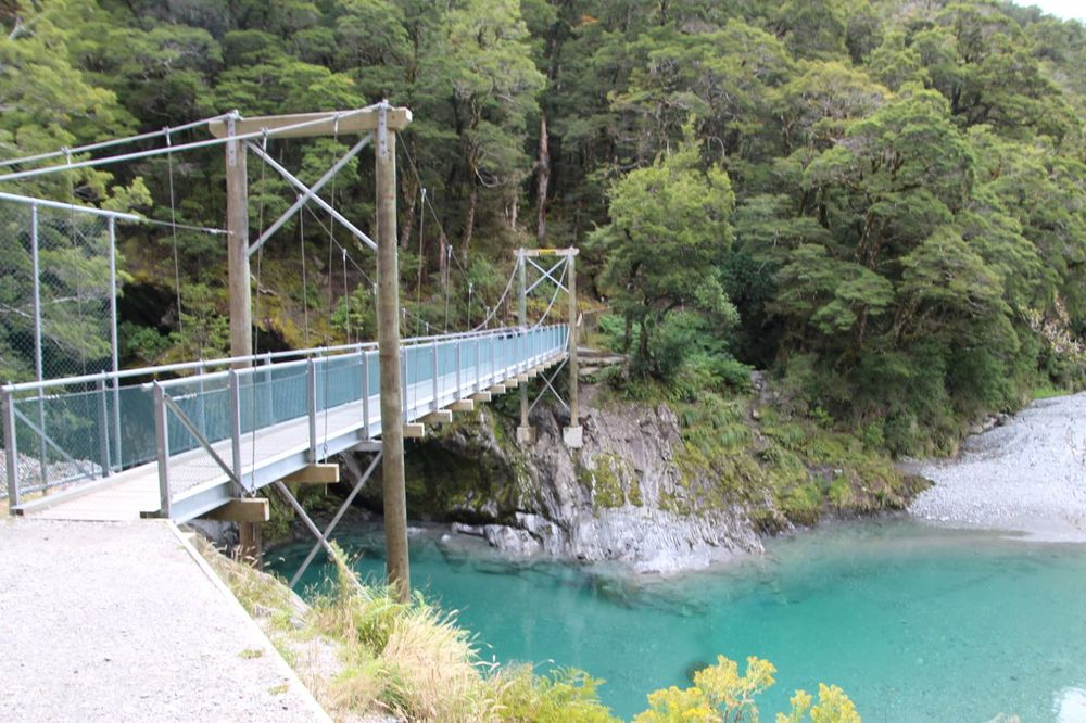 The second bridge to the Blue Pools.