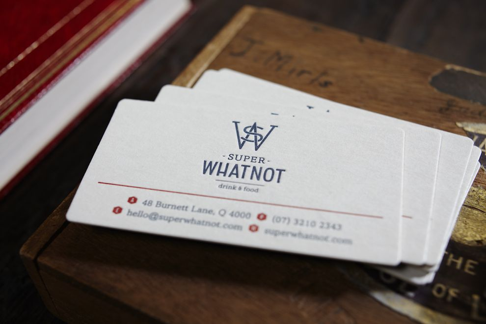 When in doubt, eat by font. In this case, drink. Oh how I love a letterpress business card.