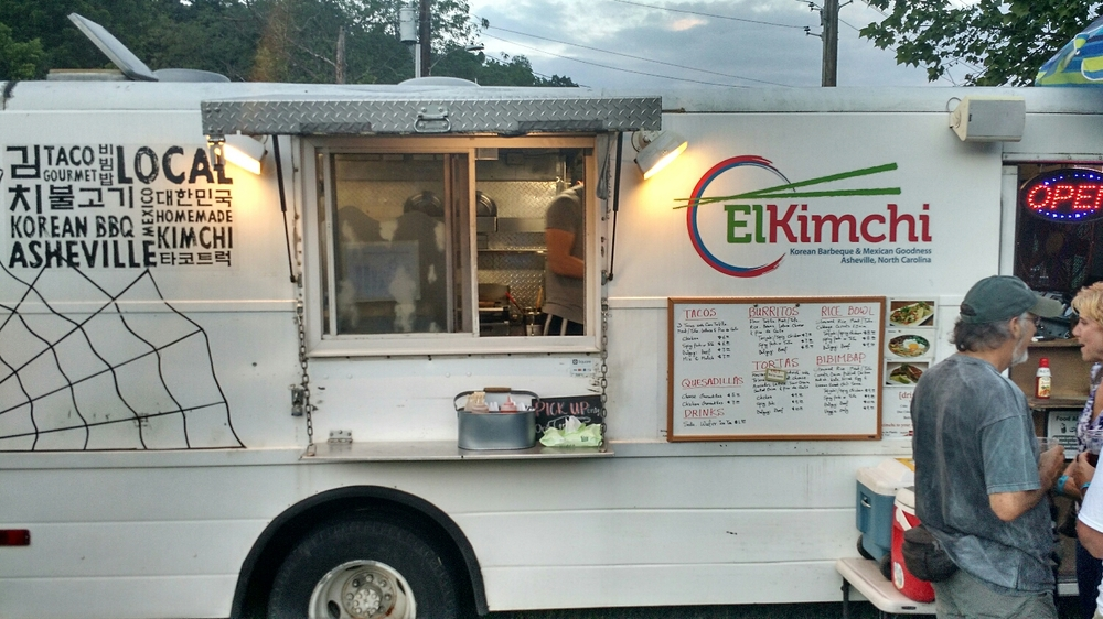 Some people came for the music. We came because El Kimchi was here tonight. :-)