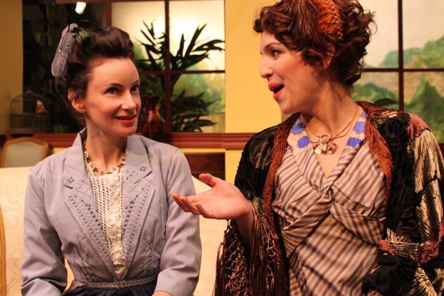 Casey McKinnon (Lady Stutfield) and Dana DeRuyck (Mrs. Allonby). Photo courtesy of director  Armina LaManna .