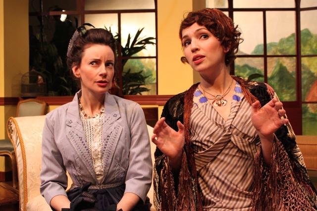 Casey McKinnon (Lady Stutfield) andDana DeRuyck (Mrs. Allonby). Photo courtesy of director Armina LaManna .