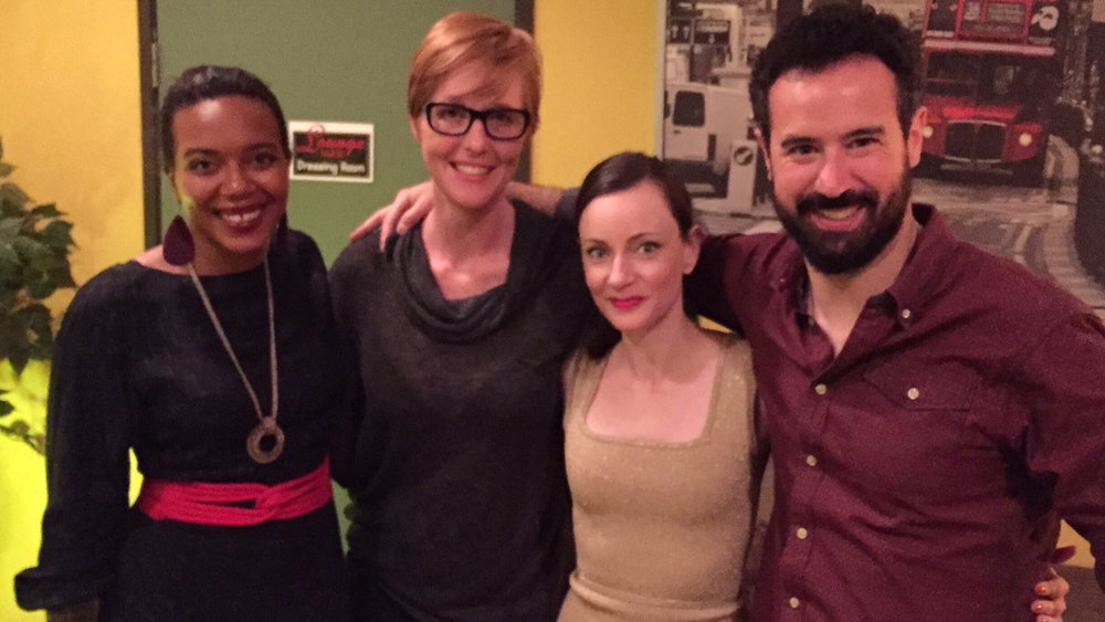 Opening night with Sameerah Luqmaan-Harris, Nicole Dominguez, Casey McKinnon, and Jason Weiss.