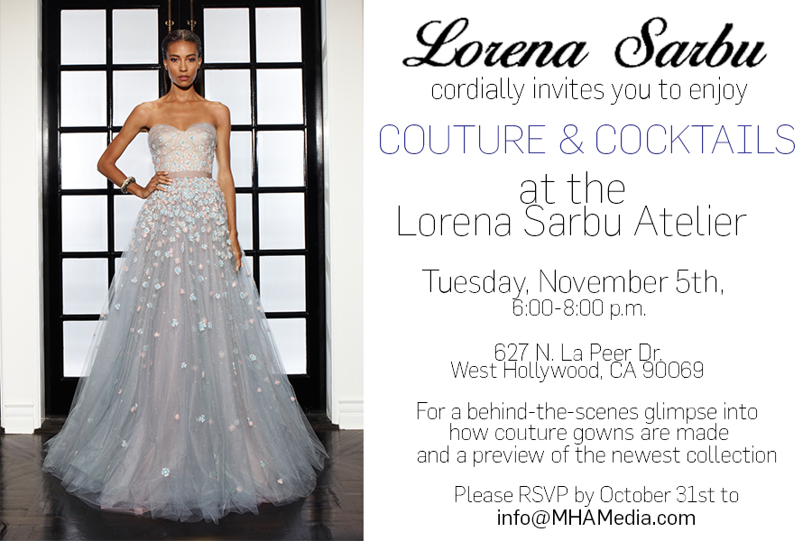This is a flyer I designed under MHA's creative direction for an upscale Lorena Sarbu event!