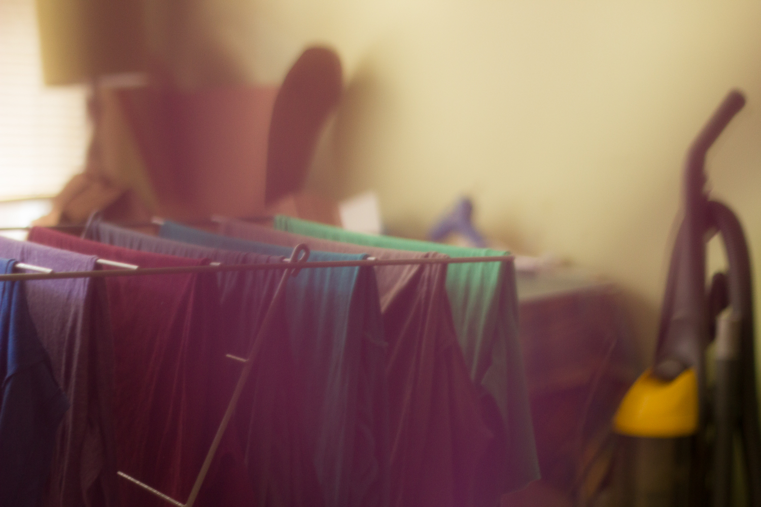 The same shot as the previous picture (duh), but shooting through fabric this time.