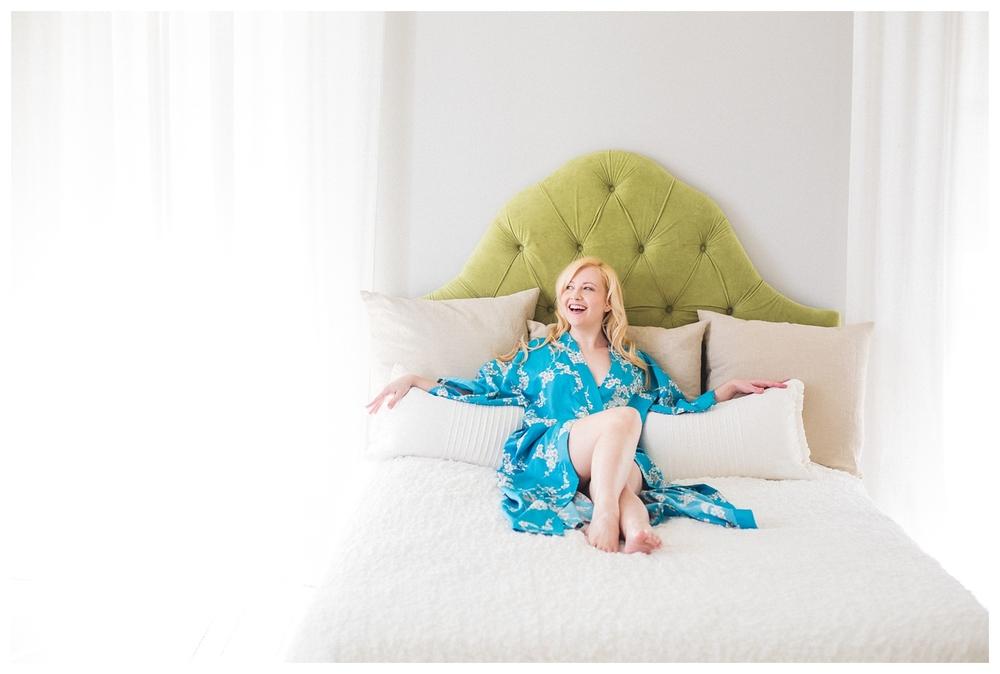 blonde beautiful joyful boudoir photography