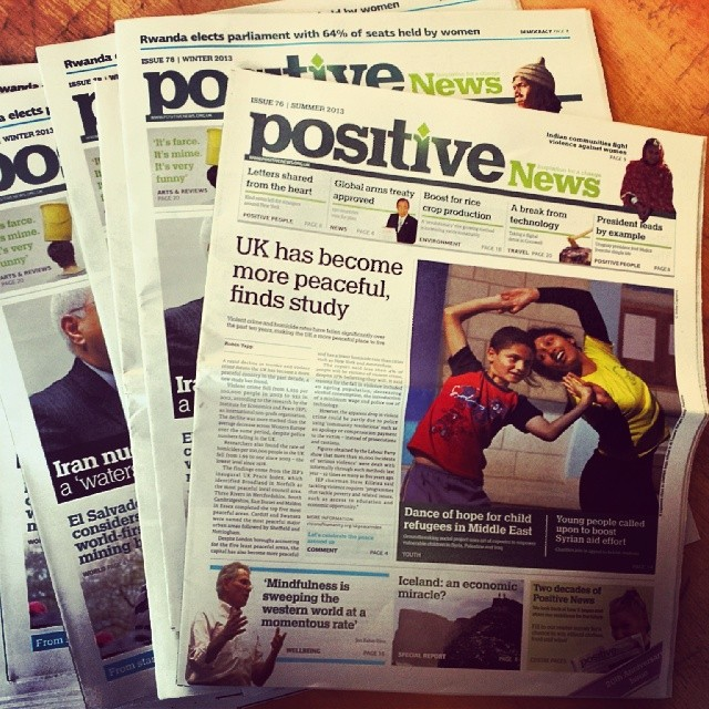 Just interviewed the team at Positive News. A UK based paper bringing hope and positivity to their audience. #posititvenews #peopleoflondon