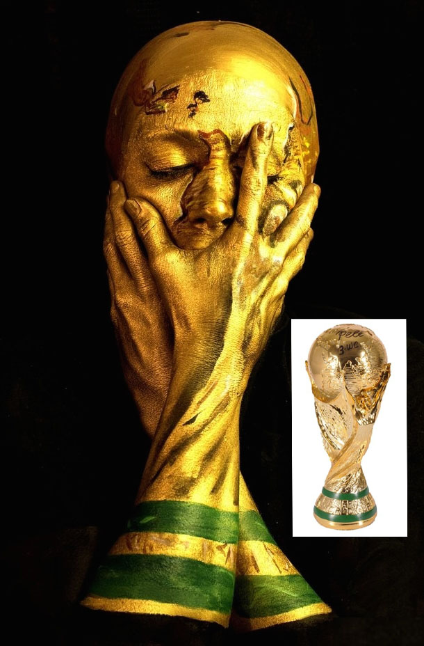 World Cup Self Portrait by Emma Allen