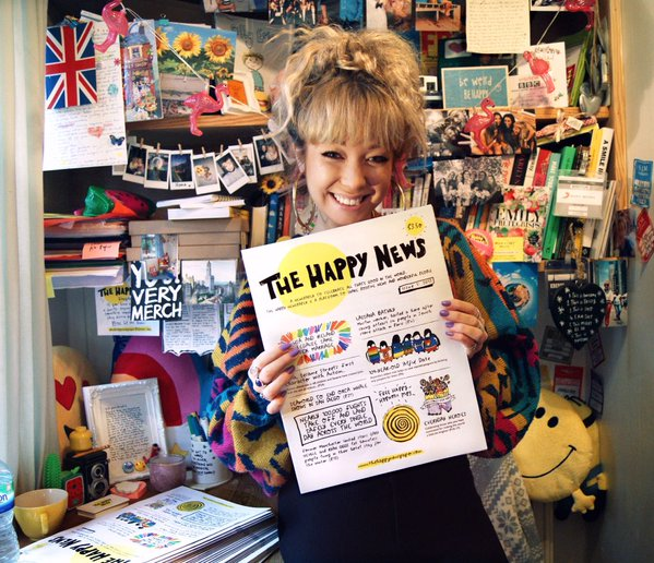 Emily Coxhead, Creator & Editor of The Happy News Paper.