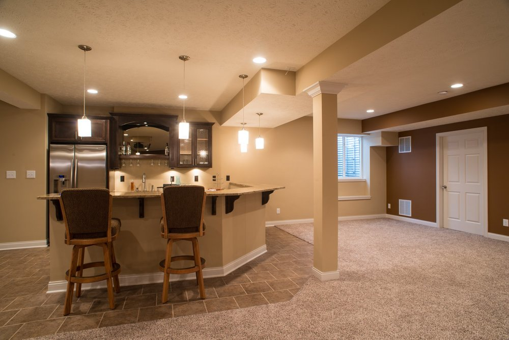 Manteo Court Basement Remodel Indianapolis Remodeling Contractor Simple Basement Remodeling Indianapolis