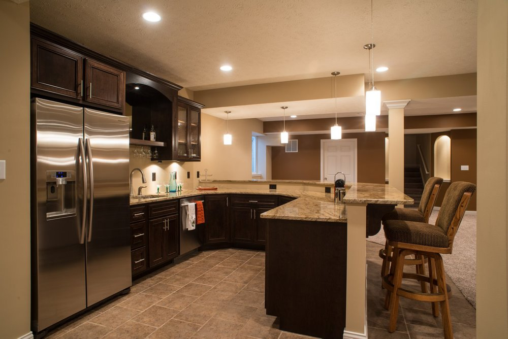 Indianapolis remodeling contractor kitchen remodeling - Basement remodel designs ...