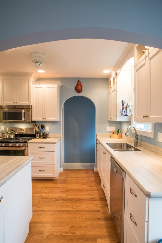 Soft Blue Kitchen Remodel — Indianapolis Remodeling Contractor ...