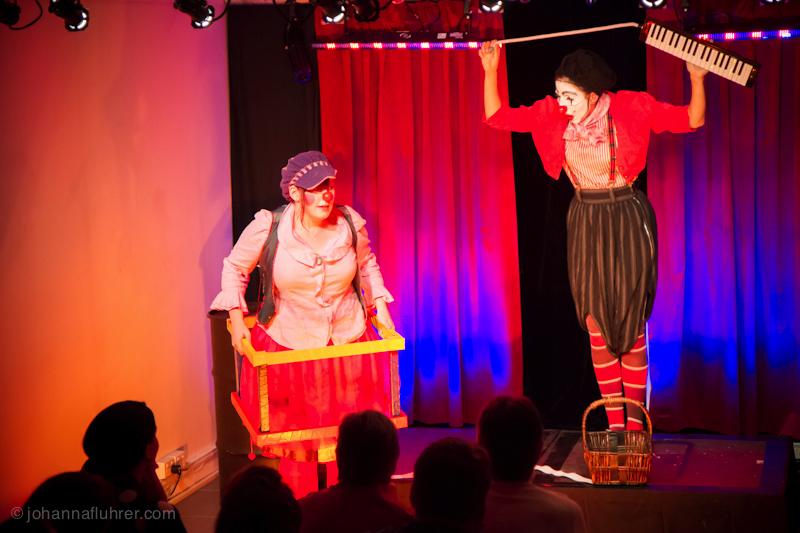 Johanna Fluhrer and Eliza Stubbs, Clown.
