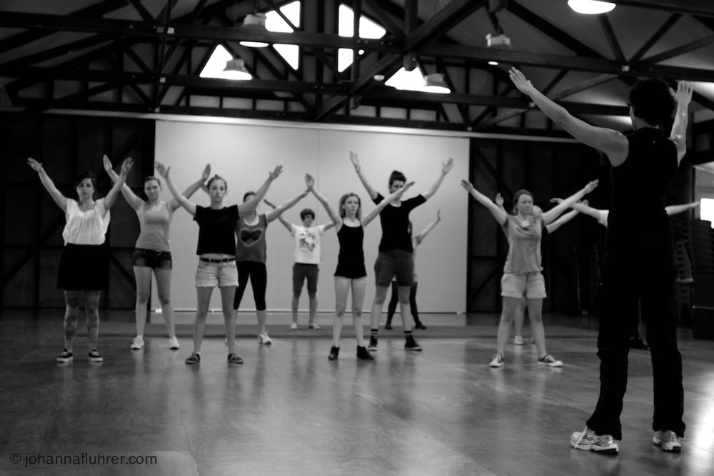 Stage presence and projection, workshop by Johanna Fluhrer