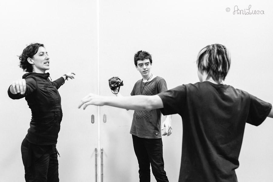 Teaching Commedia dell'Arte, mask workshop by Johanna Fluhrer