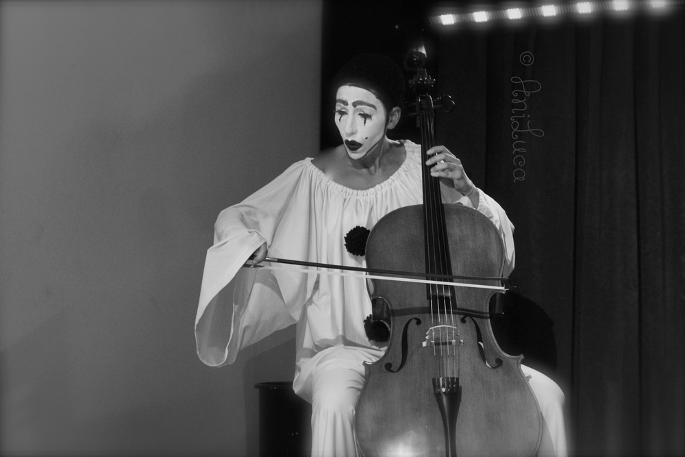 Pierrot / Pierrette, played by Johanna Fluhrer